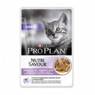 Hrana umeda pentru pisici, Pro Plan, Junior Curcan in sos, 24 x 85g