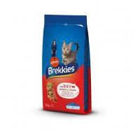 Hrana uscata pentru pisici Brekkies Excel, cu Vita si Legume, 15Kg