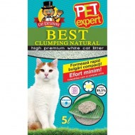 Nisip pentru pisici, Pet Expert, Clumping Natural, 5 l