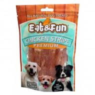Recompense pentru caini, Eat&Fun, Chicken Stripe, 100 G