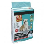 Covorase absorbante pentru caini, Pet Expert Covor Absorbant L Carbon 60 X 75 CM, 12 BUC