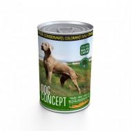 Hrana umeda caini, Dog Concept, Pasare Vanat Morcovi, 415 G