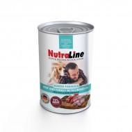 Hrana umeda pentru caini, Nutraline, Junior, Vita/Curcan Ulei In, 800 G