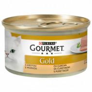 Hrana umeda pentru pisici, Gourmet Gold, Mousse de Curcan, 24 X 85g