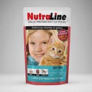 Hrana umeda pentru pisici, Nutraline, Classic Kitten, 24 x 100 G