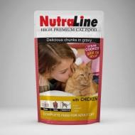 Hrana umeda pentru pisici, Nutraline, Classic Pui, 24 x 100 g