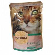 Hrana umeda pentru pisici, Petkult Cat, Sterilised cu Iepure, 100G