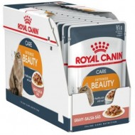 Hrana umeda pentru pisici, Royal Canin, Intense Beauty, 12 x 85 g