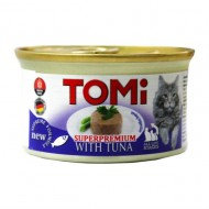 Hrana umeda pentru pisici, Tomi, Ton, SuperPremium, 12 x 85 G