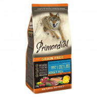 Hrana uscata pentru caini, Primordial, Grain-Free Adult Rata si Pastrav, 12 kg