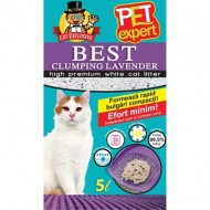 Nisip litiera pisici, Pet Expert, Clumping Lavanda Bentonita, 5l