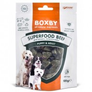 Recompense pentru caini, Boxby Superfood Beef, Spinach & Garlic, 120g