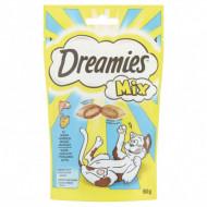 Recompense pentru pisici, Dreamies Mix, Somon Savuros si Branza Delicioasa, 60G