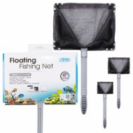 "Stainless Floating Fishing Net, 10""/25x18 cm, ISTA I-894, Coarse Mesh"