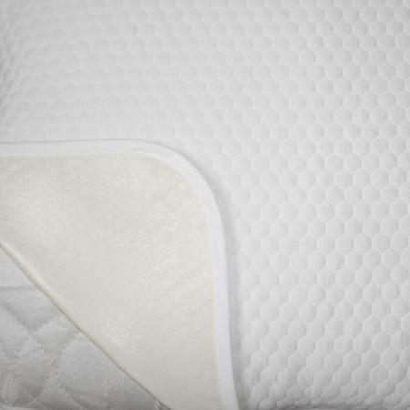 Protectie Perna Royal Home, Soft Touch, Model Fagure, Impermeabila, Tricot Matlasat, 70 x 70 cm, Alb