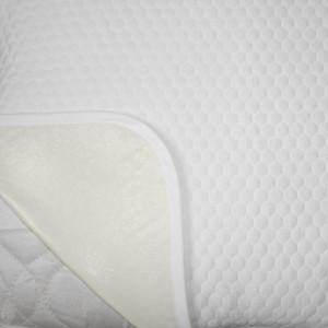 Protectie Perna Royal Home, Soft Touch, Model Fagure, Impermeabila, Tricot Matlasat, 50 x 70 cm, Alb