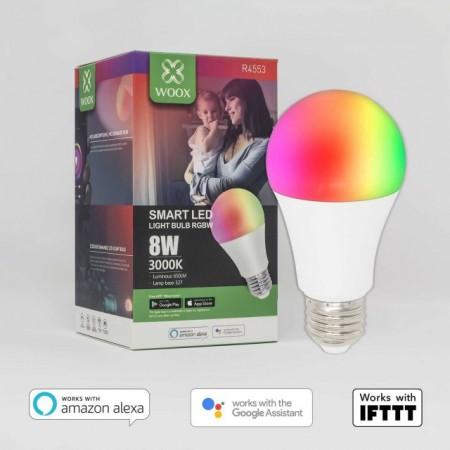 Bec LED Smart WiFi Woox R4553 E27 8W Color