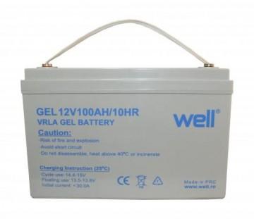 Baterie solara Well cu gel 12V 100Ah