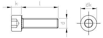 SURUB CAP HEXAGONAL INOX M8X20/20 SCHAFER PETERS GMBH DIN 912 A2
