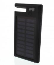 Acumulator extern powerbank solar 4000mAh 2.0A Well