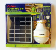 Bec cu LED acumulator litiu-ion si panou fotovoltaic