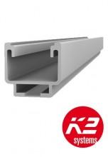 Sina profil aluminiu 2.10 m montaj panouri fotovoltaice K2 Systems AG