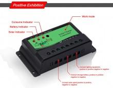 Regulator de incarcare solar Nova  PWM de 10A 12V 24V