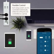 Prelungitor Smart WiFi Woox R4028 3 prize 4x USB 1.8m