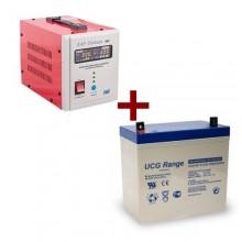 Kit Sursa UPS Ultimate 500W cu acumulator GEL 12V 55Ah