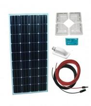 Sistem Fotovoltaic pentru rulota  Kit 160 Wp 12V