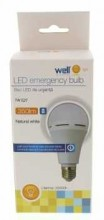 Bec cu led cu acumulator A60 E27 7W 230V lumina naturala Well