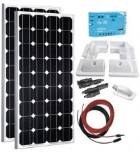 Kit fotovoltaic pentru rulota 200W 12V
