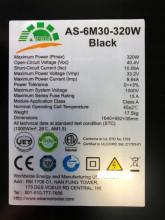 Amerisolar 320Wp AS-6M-320W monocristalin Fullblack