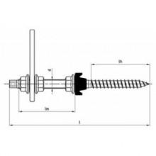 Șurub ancorare acoperiș tabla K2 SYSTEMS AG M10x180