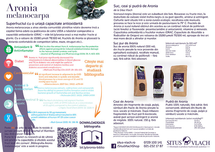 Click aici pentru Bibliografia Aronia melanocarpa!