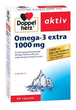 Poze OMEGA 3 EXTRA 1000mg 60cps