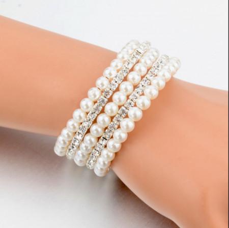 bratara eleganta perle sintetice mireasa