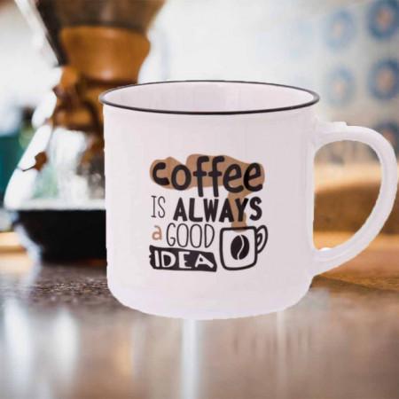 Cana din ceramica Coffee is a good idea, 325 ml