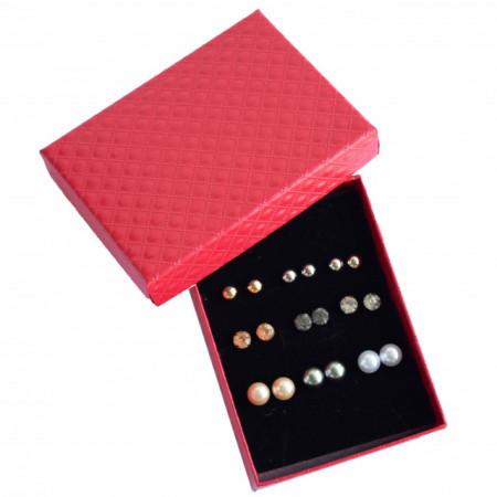 set cercei cu perle acrilice