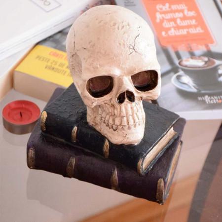 Statueta decorativa Pufo, model Craniul pazitor al cartilor
