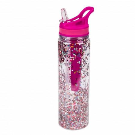 Sticla sport Pufo Sparkle pentru apa cu suport pentru gheata, 500 ml