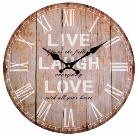 ceas de perete din lemn