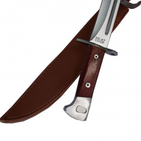 Cutit baioneta inscriptionat AK-47 CCCP 42,5 cm, teaca piele ecologica