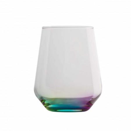 pahar 425 ml cu fund colorat