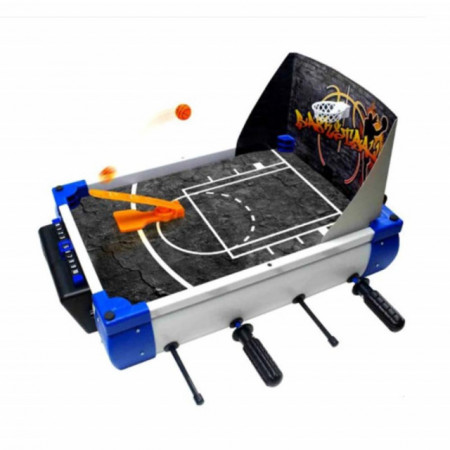 Set jocuri sportive de masa 5 in 1, fotbal, baschet, hockey si bowling, copii si adulti, 30 cm, Pufo