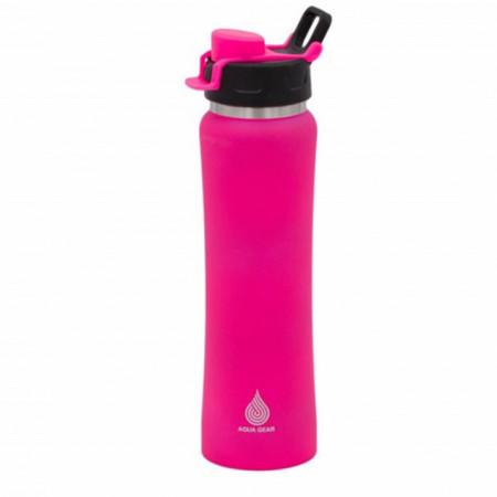 Sticla sport pentru apa Pufo Pinky, metalica, 750 ml