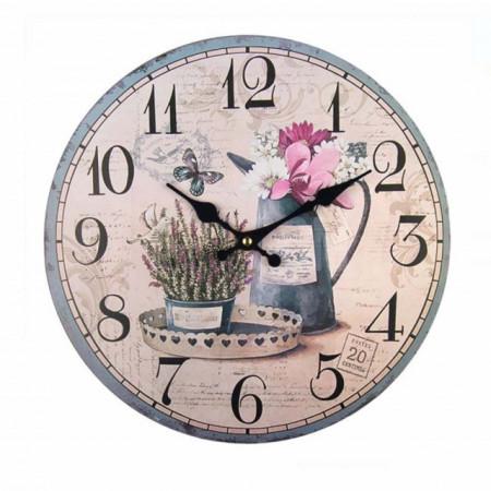 ceas de perete din lemn modern