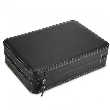 Geanta caseta depozitare si transport pentru 10 ceasuri, negru