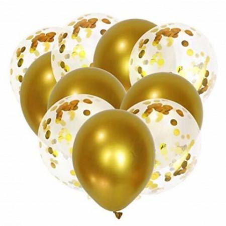 set baloane aurii