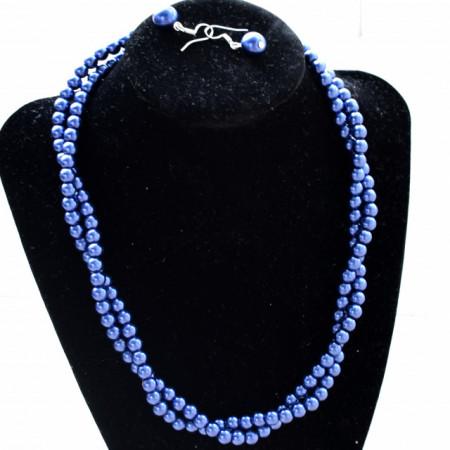 set cercei si colier perle acrilice